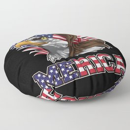 Patriotic Mullet Eagle | Independence Day July 4th Floor Pillow