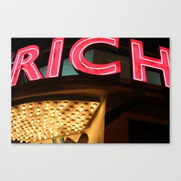 My life is Rich Canvas Print