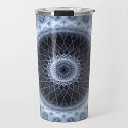 Silver and gray mandala Travel Mug