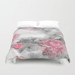 ROSES PINK WITH CHERRY BLOSSOMS Duvet Cover