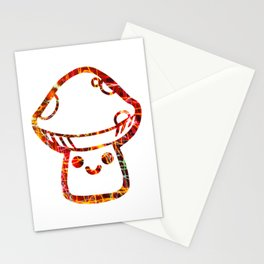 Abstract Magic Mushrooms Shrooms Stationery Cards