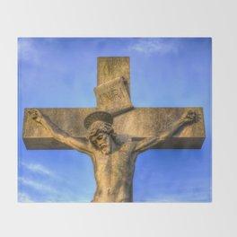 Jesus Statue Throw Blanket