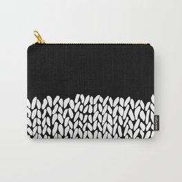 Half Knit  Black Carry-All Pouch