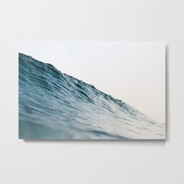 Bright coastal ocean wave Metal Print