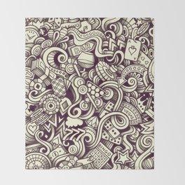 casino doodle Throw Blanket