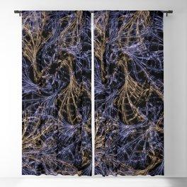 Blue Magical Wisps Blackout Curtain