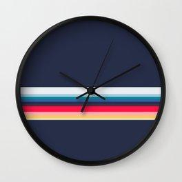 Simply Striped (navy) Wall Clock