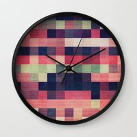 quilt Wall Clocks featuring quilt n2 by spinL