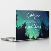 neil gaiman Laptop & iPad Skins featuring Inspirational Poster - Neil deGrasse Tyson Quote by Mariah Liisa