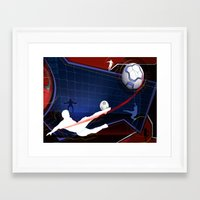 soccer Framed Art Prints featuring Soccer by Robin Curtiss
