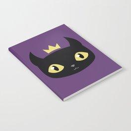 Black cat king Notebook