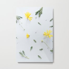 Daisies Are the Friendliest Flowers Metal Print
