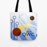 quidditch Tote Bags featuring Quidditch World Cup 2014 by makoshark