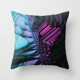 Icy Cavern Throw Pillow