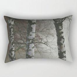 Trees by foggy lake Rectangular Pillow