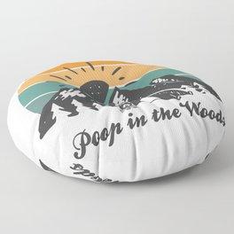 Poop In The Woods Camping Floor Pillow