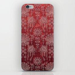 Victorian Potpourri - Faded Splendor Damask - RUBY iPhone Skin