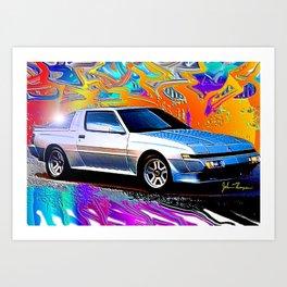 Mitsubishi Starion Art Print