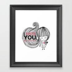 I Hate You (but i love you) #hatelove Framed Art Print