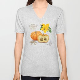 Pumpkin and Pollinators Unisex V-Neck