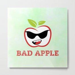 Bad Apple in Black Sunglasses with Attitude Metal Print