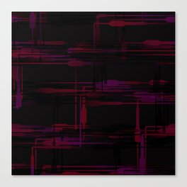 Purple Passion Plumbing Abstract Canvas Print