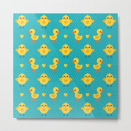 CHICKS AND DUCKLINGS Metal Print