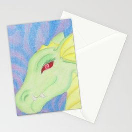 Bright Dragon in pastels Stationery Cards