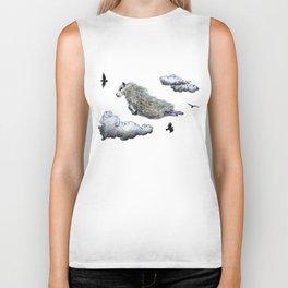 Flying sheep Biker Tank