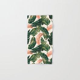 Leaf green and pink Hand & Bath Towel