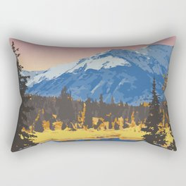Kluane National Park and Reserve Rectangular Pillow