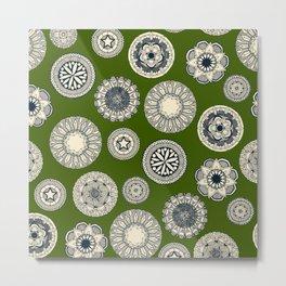 mandala cirque spot green Metal Print