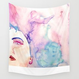 Burning Girl Wall Tapestry