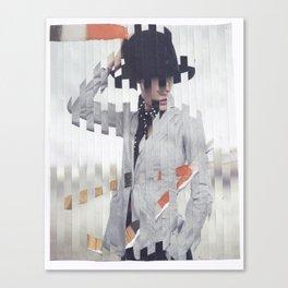 hand on hat Canvas Print