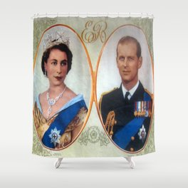 Queen Elizabeth 11 & Prince Philip in 1952 Shower Curtain