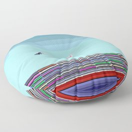 The Long Boat Taking Cellphones for May in May Floor Pillow