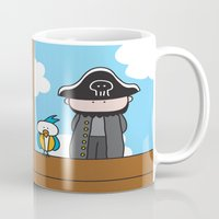 pirates Mugs featuring Pirates by oekie