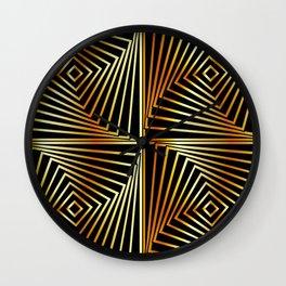 Rotating squares Wall Clock