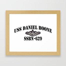 USS DANIEL BOONE (SSBN-629) BLACK LETTERS Framed Art Print