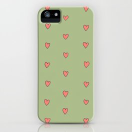 Pretty Hearts in a Row iPhone Case