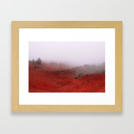 Red Land Framed Art Print
