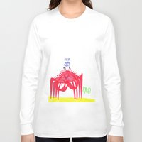 cuddle Long Sleeve T-shirts featuring Wanna Cuddle? by Ryan van Gogh