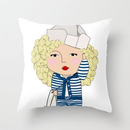 Mss Sailor Throw Pillow