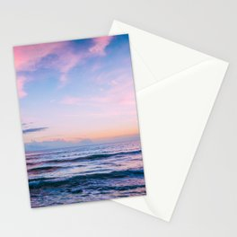 Pink and Blue Ocean Sunset Stationery Cards