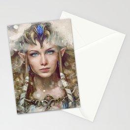 Epic Princess Zelda from Legend of Zelda Painting Stationery Cards