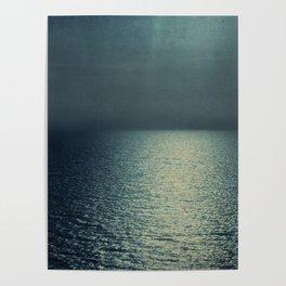 sea - emerald sunset Poster