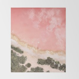 iOS 11 Rose Gold iPad background Throw Blanket