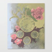 clockwork Canvas Prints featuring Clockwork by Laura Sturdy