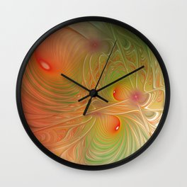 flames on texture -16- Wall Clock