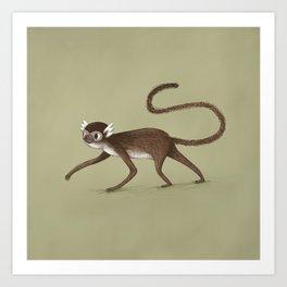 Squirrel Monkey Walking Art Print